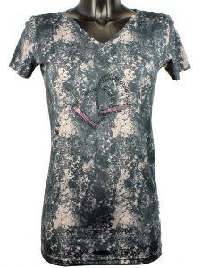 CRYSTAL STIRUP V-hals T-shirt Mink Horse