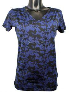 CRYSTAL BETT V-hals T-shirt Mink Horse